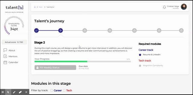 plataforma de talently startup en peru
