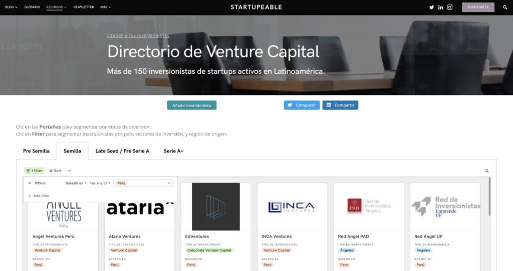 directorio venture capital peru