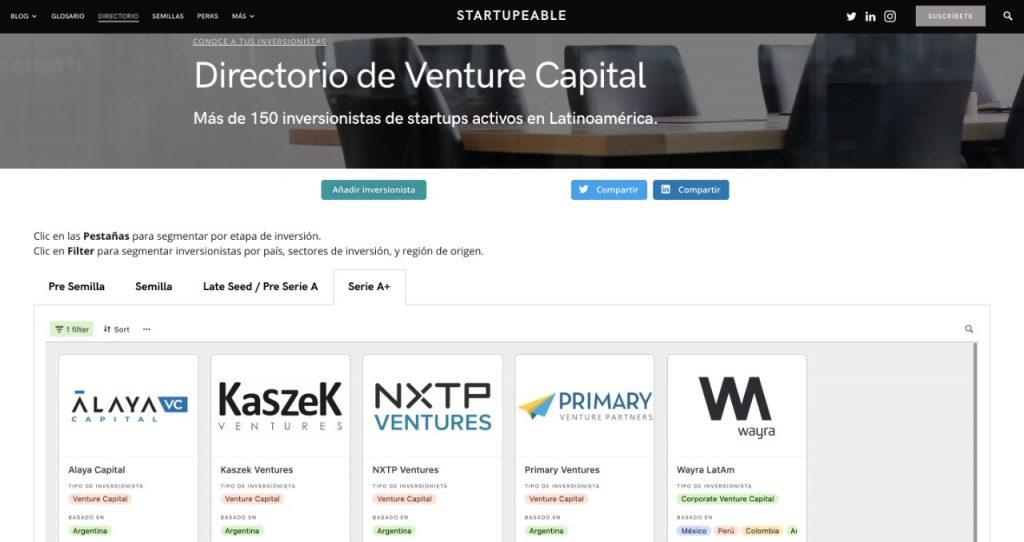 directorio venture capital argentina