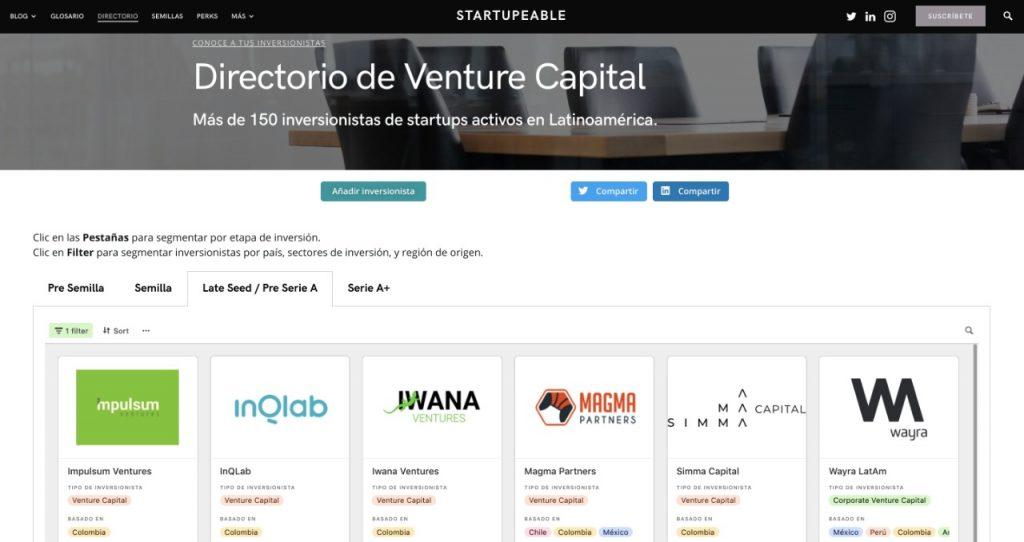 directorio venture capital colombia