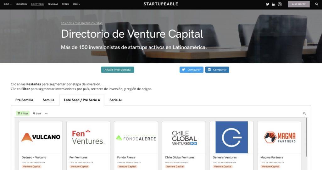 directorio venture capital chile