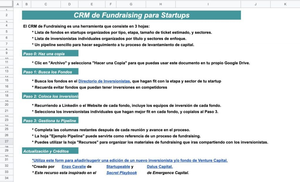 fundraising crm startups