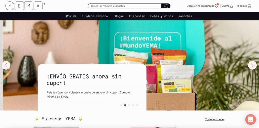 startups e-commerce latinoamerica Yema